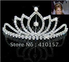 Bridal wedding Bridal Jewelry tiara crown veil crystal comb new Headwear Tiaras-in Apparel & Accessories on Aliexpress.com