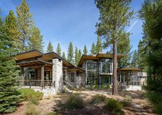 This modern mountain retreat was designed by Walton Architecture and designer Dara Rosenfeld, located in Martis Camp, an area of Lake Tahoe, California.