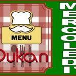 Menù del mercoledì per la dieta Dukan dei sette giorni