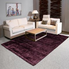Grace Shaggy Violet Rug by Arte Espina – Shaggy Rugs Living Room Living Room White, White Rooms, Rugs In Living Room, Interior Design Living Room, Cost Of Kitchen Countertops, Black Rug, Red Rugs, Rug Size, Zeppelin