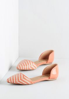 Like a Natural Woven Flat in Coral. Stylish simplicity is second nature to you - which explains your adoration of these coral and ivory flats. #coral #modcloth
