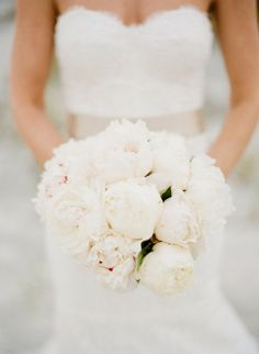 peonies & all white