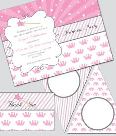 Princess Party Invitation and Decoration