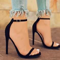70462b140377f Women s Sexy Simple High Heels Fashion Solid Color Summer Sandals Shoes