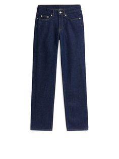 Straight Rinsed Indigo Jeans