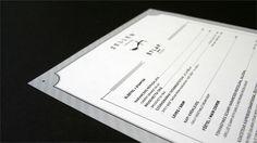 ZELLER BISTRO menu Branding by András Berecz, via Behance