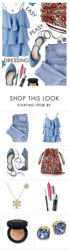 """Easy Peasy Dressing"" by juliehooper ❤ liked on Polyvore featuring Essie, Paul & Joe, Gap, House of Holland, Clinique and Tory Burch"