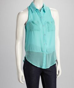 Take a look at this Blue Sleeveless Top by Available on #zulily today!$12.99, regular 31.00