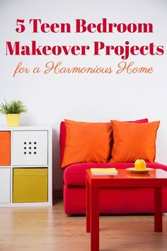Transform your teens room into a sanctuary with these five teen bedroom makeover projects plus find out how much you can expect to spend on each one! Home Renovation, Home Remodeling, Home Decor Bedroom, Diy Home Decor, Teen Bedroom Makeover, Cool Kids Rooms, Decorating On A Budget, Home Projects, Home Improvement