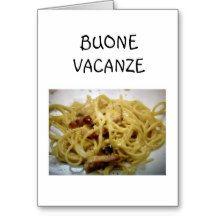 HAPPY HOLIDAYS EAT DRINK BE HAPPY ITALIAN CARD