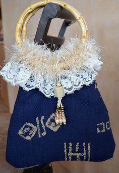 Summer Blue Tan Small Handbag Purse Boho Hippie