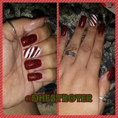 ‪#‎merrychristmas‬ ‪#‎candycane‬ ‪#‎stripes‬ ‪#‎red‬‪#‎white‬ ‪#‎glitter‬ ‪#‎orly‬ ‪#‎essie‬ ‪#‎bhcosmetics‬ in‪#‎deepred‬ glitter ‪#‎long‬ ‪#‎nails‬ ‪#‎naillife‬ ‪#‎nailart‬‪#‎manicure‬ ‪#‎holidays‬ ‪#‎tistheseason‬ ‪#‎myart‬‪#‎mypaint‬ ‪#‎mylife‬ ‪#‎myworld‬ ‪#‎ilovewhatido‬‪#‎polish‬ ‪#‎addict‬