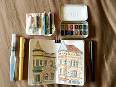 Travel sketch kit open | Flickr - Photo Sharing!