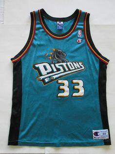 NBA VINTAGE Grant Hill #33 Detroit Pistons Jersey by Champion, Men's  44 #Champ #DetroitPistons