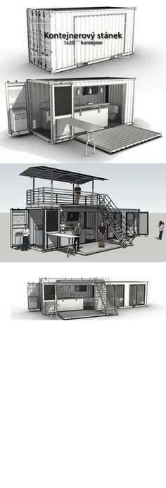 House Container Design Coffee Shop 26 New Ideas Container Food, Container Coffee Shop, Container House Plans, Container Truck, 40ft Container, Container Cabin, Cargo Container, Food Containers, Shipping Container Restaurant