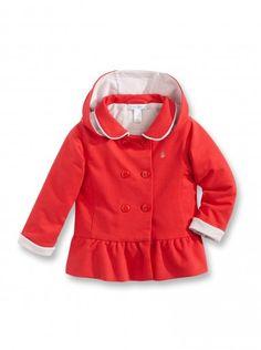 dressing de bb manteau rouge groseille capuche style enfants jersey