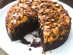 Chocolate-Almond Upside-Down Cake