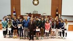 2013년 10월 24일, 강원도 원주시 소재 상지영서대학교 행정과 학생들이 강릉시의회 방문하여 의회 체험활동 실시