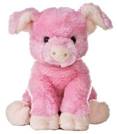 "12"" Aurora Plush Pig ""This Little Piggy"" Pink Stuffed Animal"