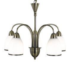 Antique Brass 5 Light Vase Ceiling Fitting