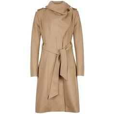 Ted Baker Vasilis coat Cream - House of Fraser Long Beige Coat, Fasion, Fashion Outfits, Wrap Coat, Work Fashion, Fall Fashion, Tao, Ted Baker, Cute Outfits