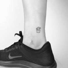 Tiny cactus tattoo on the ankle. - cactus tattoo - Tiny cactus tattoo on the ankle. Best Picture For cactus wallpaper Fo - Small Tattoos Men, Tattoos For Women, Unique Tattoos, Little Tattoos, Mini Tattoos, Cute Tattoos, Tatoos, Cactus Tattoo Small, Tiny Cactus