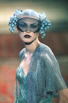 ☫ A Veiled Tale ☫ wedding, artistic and couture veil inspiration - Mc Queen 4 Givenchy Couture show Headdress, Headpiece, Alexander Mcqueen, Glamour, Vogue, British Style, Geisha, Costume Design, Couture Fashion