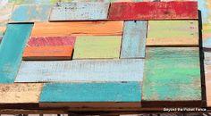 salvaged wood art http://bec4-beyondthepicketfence.blogspot.com/2014/05/salvaged-wood-art.html