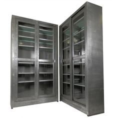 Industrial Metal Cabinet w/ Sliding Glass Doors - I WANT THESE!!!!!!!!!
