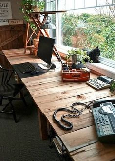 Wood Shelving/desk