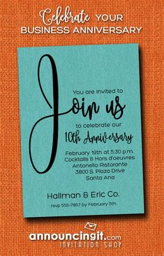 Join us business party invitations business invitations join us business party invitations business invitations pinterest business invitation anniversary invitations and dinner party invitations stopboris Image collections