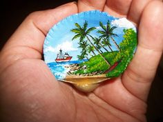Seashell painted with acrylic... | Splendid Seashells | Pinterest                                                                                                                                                                                 More