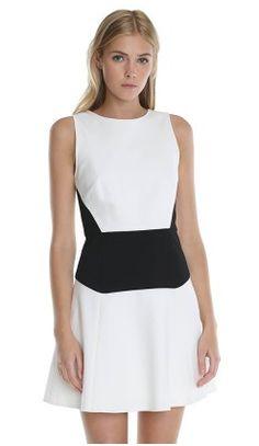 tibi odeon stretch flirty dress