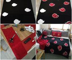 Anime Diys, Anime Crafts, Cute Bedroom Decor, Diy Room Decor, Home Decor, Naruto Clothing, Otaku Room, Kawaii Room, Wall Drawing