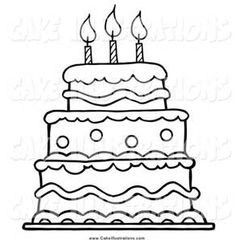 cake clipart black white - Bing images