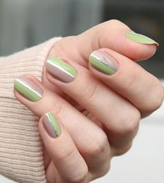 Simple is the way to elegance. And this nude and green nail art design is the epitome of simplicity is beauty.