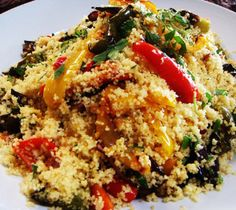 Oven roast vegetables and chicken couscous.This delicious dish is a complete meal and needs no accompaniment.Great for cooking in turbo cooker.