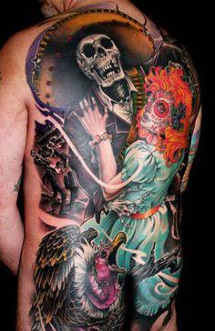 Tattoo Artist - James Tex | www.worldtattoogallery.com/back_tattoos