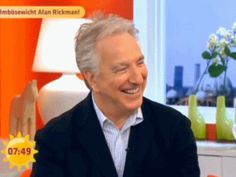 "xpolyjuicepotion: "" karthaeuser65: "" glitterkitty4ever: "" karthaeuser65: "" What a beautiful man!!!!!! Alan Rickman on the German tv Channel Sat 1 (2015) "" He was so lovely. My heart…♡ "" Very..."
