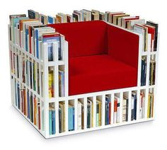 10 Bookshelf Chair Design Ideas for Bookworms (In Pictures) Best Christmas Gifts, Christmas Fun, Ideas Habitaciones, Bibliotheque Design, Library Chair, Book Storage, Blog Deco, Decoration Design, Book Nooks