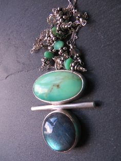 Chrysoprase & Labradorite Totem Necklace