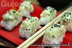 Sushi Prensado de Bacalhau » Peixes e Frutos do Mar, Receitas Saudáveis » Guloso e Saudável
