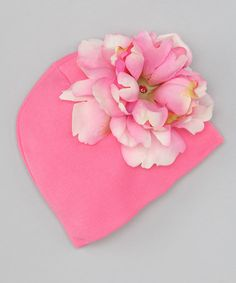 Take a look at this Cotton Candy Peony Beanie by Jamie Rae Hats on #zulily today!