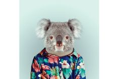"""Fashion Zoo Animals"" Photo Series by Yago Partal"
