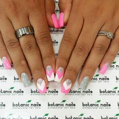 Lovely pink sliver and white