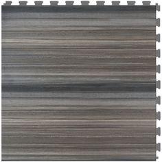 Shop Perfection Floor Tile LVT 6 Piece 20 In X 20 In Dark
