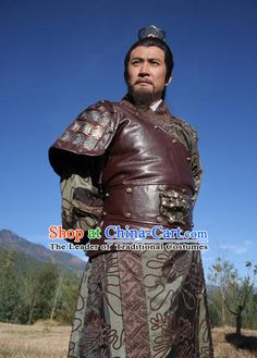 Chinese Tang Dynasty Costumes Duke General Li Jing Body Armor Costume Complete Set for Men