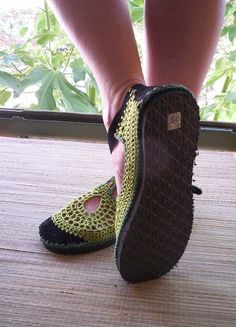 Mary Jane crochet SHOES  Apple Green  CUSTOM MADE  by lepiedleger, $62.00