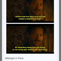 Hemingway in Midnight in Paris