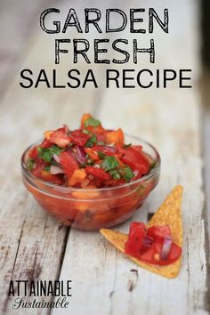 Memorize these five ingredients for PERFECT garden fresh salsa every time.